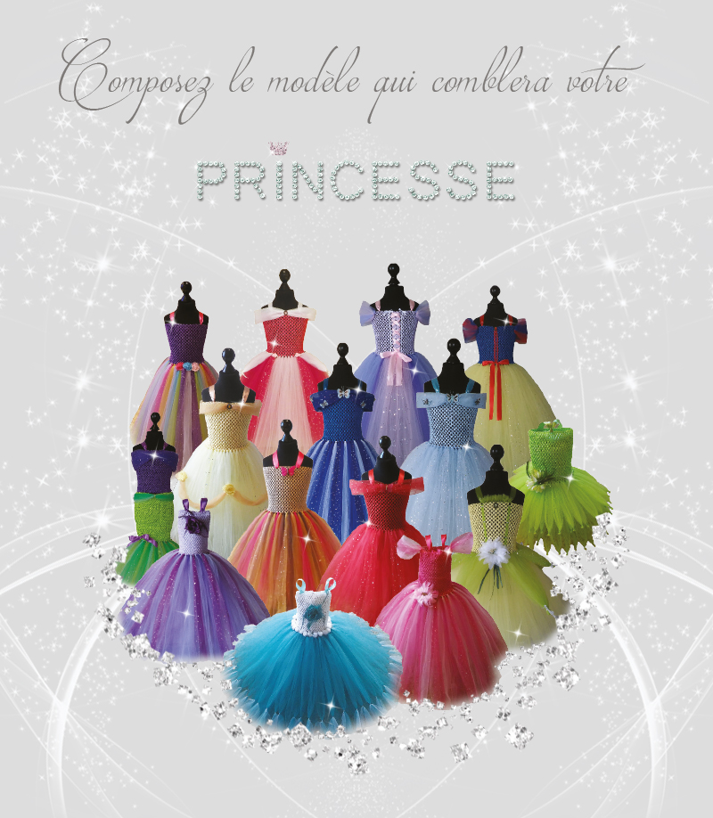 Collection de robes tutus de princesses par Atelier Coralie créations